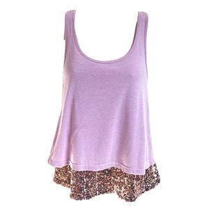 🆕 Gorgeous purple & gold sequin camisole t…
